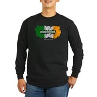 St Patrick's Day Reef Flag Long Sleeve Dark T-Shir