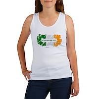 St Patrick's Day Reef Flag Women's Tank Top
