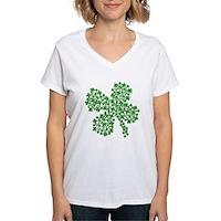 Clover Clovers Women's V-Neck T-Shirt