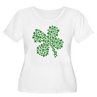 Clover Clovers Women's Plus Size Scoop Neck T-Shir