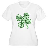 Clover Clovers Women's Plus Size V-Neck T-Shirt