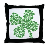 Clover Clovers Throw Pillow