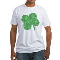 Emo Skull Clover Fitted T-Shirt