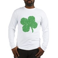 Emo Skull Clover Long Sleeve T-Shirt