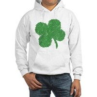 Emo Skull Clover Hooded Sweatshirt