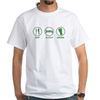 Eat Sleep Drink St Patrick's Day White T-Shirt