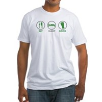 Eat Sleep Drink St Patrick's Day Fitted T-Shirt