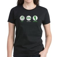 Eat Sleep Drink St Patrick's Day Women's Dark T-Sh
