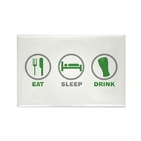 Eat Sleep Drink St Patrick's Day Rectangle Magnet
