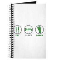 Eat Sleep Drink St Patrick's Day Journal