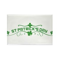 St Patricks Day Floral Rectangle Magnet