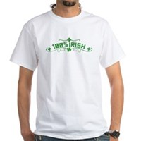 100% Irish Floral White T-Shirt