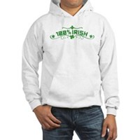 100% Irish Floral Hooded Sweatshirt
