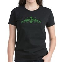 100% Irish Floral Women's Dark T-Shirt
