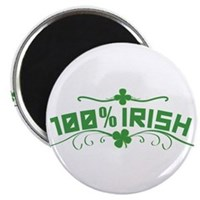 100% Irish Floral Magnet