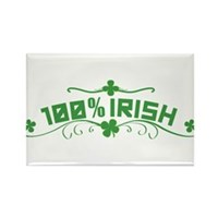 100% Irish Floral Rectangle Magnet