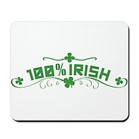 100% Irish Floral Mousepad