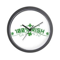100% Irish Floral Wall Clock