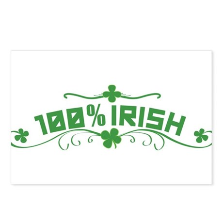 100% Irish Floral Postcards (Package of 8)