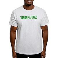 100% Irish 100% Drunk Light T-Shirt