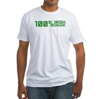 100% Irish 100% Drunk Fitted T-Shirt