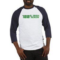 100% Irish 100% Drunk Baseball Jersey