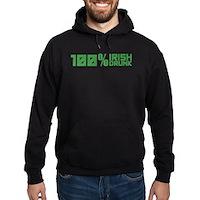 100% Irish 100% Drunk Hoodie (dark)