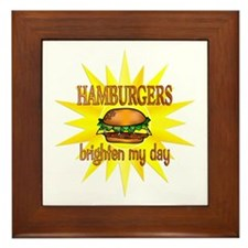 Hamburgers Brighten Framed Tile