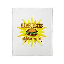 Hamburgers Brighten Throw Blanket