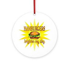 Hamburgers Brighten Ornament (Round)