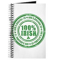 St Patrick's Day 100% Irish Stamp Journal