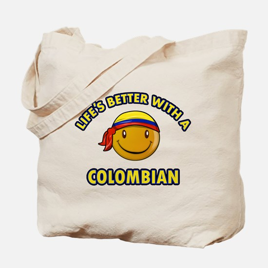 Life's better with a Columbian Tote Bag