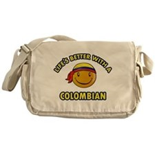 Life's better with a Columbian Messenger Bag