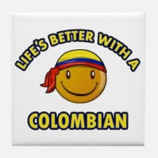 Life's better with a Columbian Tile Coaster