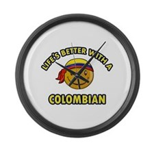 Life's better with a Columbian Large Wall Clock