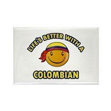 Life's better with a Columbian Rectangle Magnet