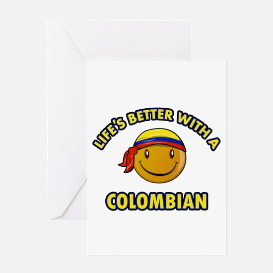 Life's better with a Columbian Greeting Card