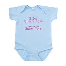 Pink Child's Pose Infant Bodysuit