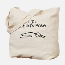 Black Child's Pose Tote Bag