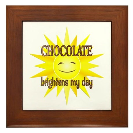 Chocolate Brightens Framed Tile