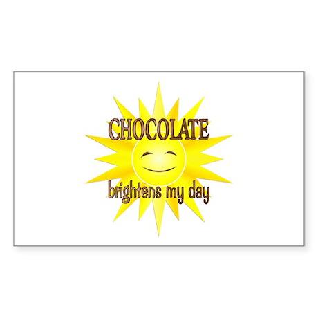Chocolate Brightens Sticker (Rectangle)