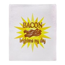 Bacon Brightens Throw Blanket