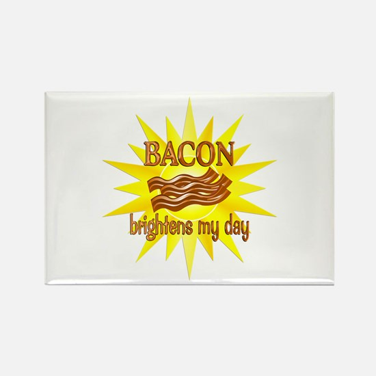 Bacon Brightens Rectangle Magnet