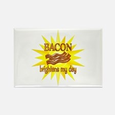Bacon Brightens Rectangle Magnet (10 pack)