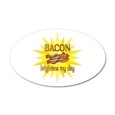 Bacon Brightens 22x14 Oval Wall Peel