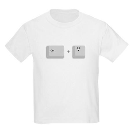 Ctrl+V (PASTE) Kids Light T-Shirt