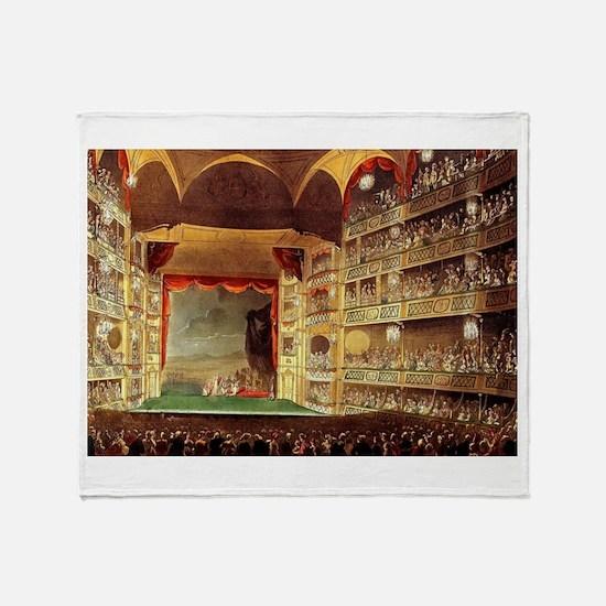 Drury Lane Theatre 1809 Throw Blanket