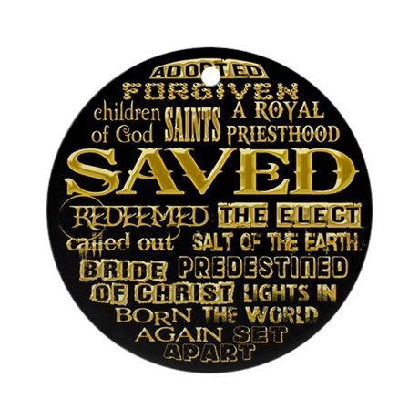 Names of the Saved Ornament (Round)