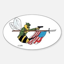Seabee Sticker (Oval)