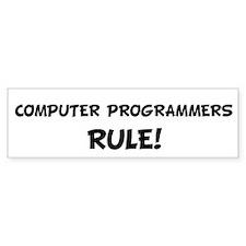 COMPUTER PROGRAMMERS Rule! Bumper Bumper Sticker